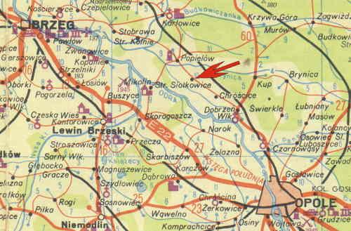Schlesien Karte Deutsche Ortsnamen.Private Homepage Der Familie Hennek Alt Schalkendorf Stare Siolkowice