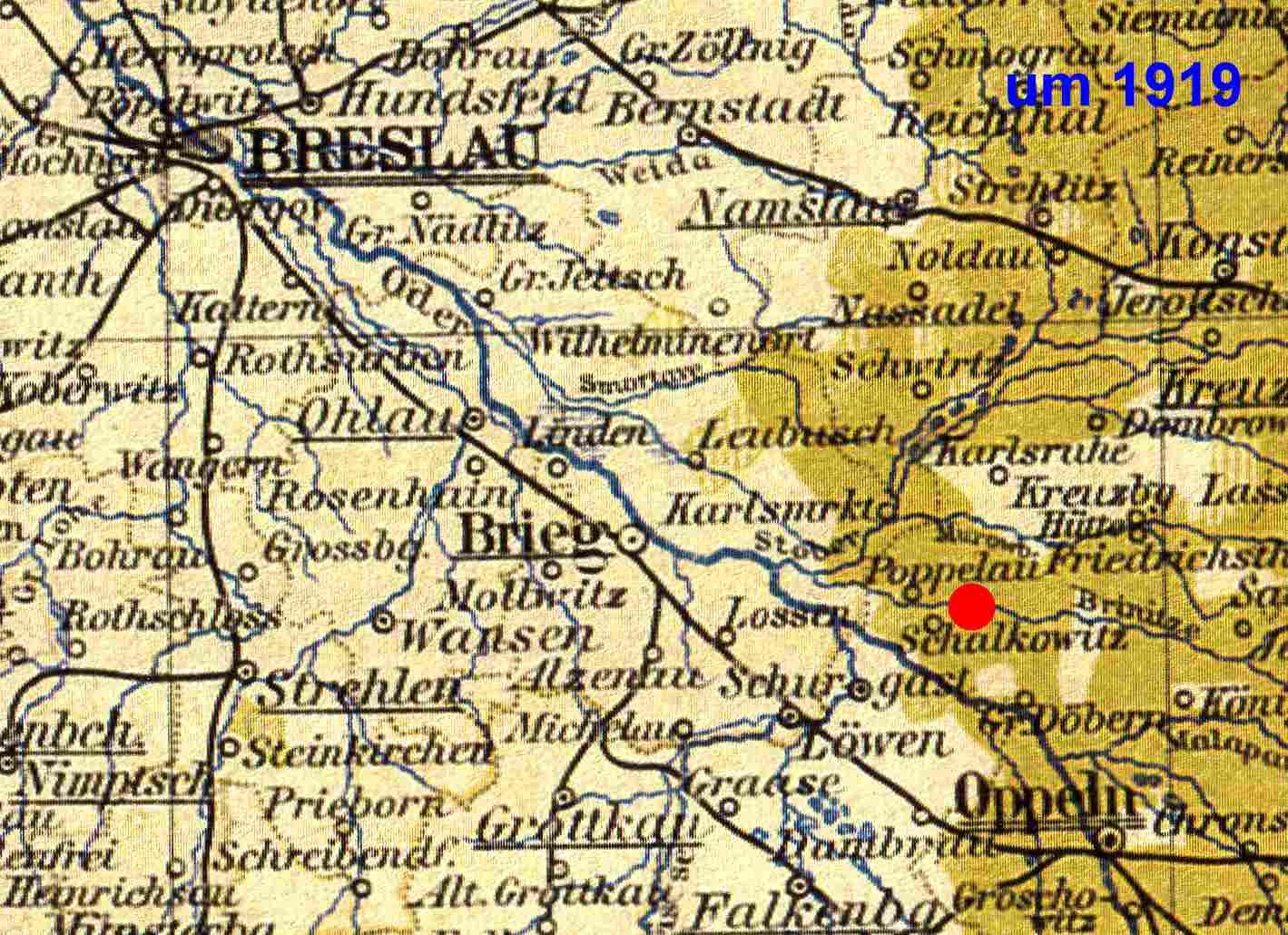 Schlesien Karte Heute.Jüdische Gemeinde Löwen Schlesien